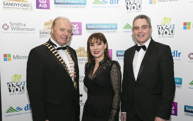 Pat Neill - President - DLR Chamber, Josepha Madigan TD, Supt. Martin Fitzgerald – Dún Laoghaire Gardaí