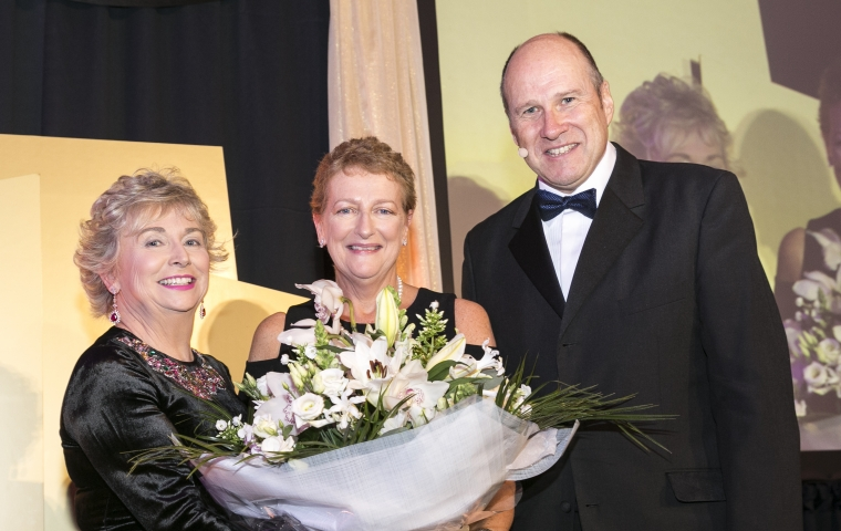 Sharon Scally - Chairperson - Sandyford BID CLG, Anne-Marie Walsh - AIB, Ivan Yates