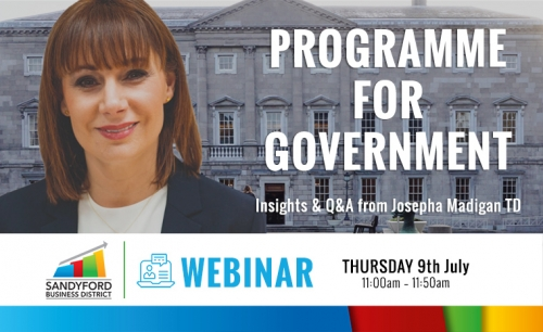 Programme for Government Webinar - Insights & Q&A from Josepha Madigan TD